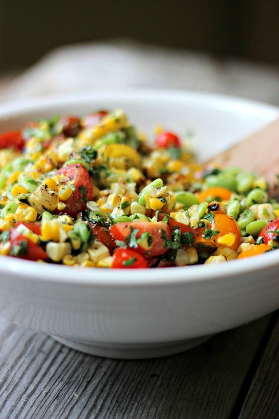 Summer Succotash with Grilled Corn