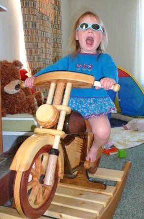 Woodworkin' & Good Eats: Motorcycle Rocker of Granddaughter's 2nd Birthday