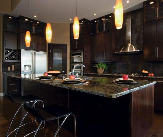 Kitchen Cabinets Espresso: Lower Cabinets. Kitchen Craft Summit Rift-cut Oak Expresso