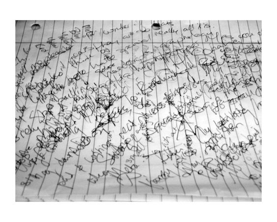A page by someone with hypergraphia. A lot of them write in this same sorta jumbled unintellegible gibberish style. It usually means the person feels compelled to write but has nothing to say. No ideas or clue what to tell your hand & pen to put on put on paper. So it ends up looking like this.