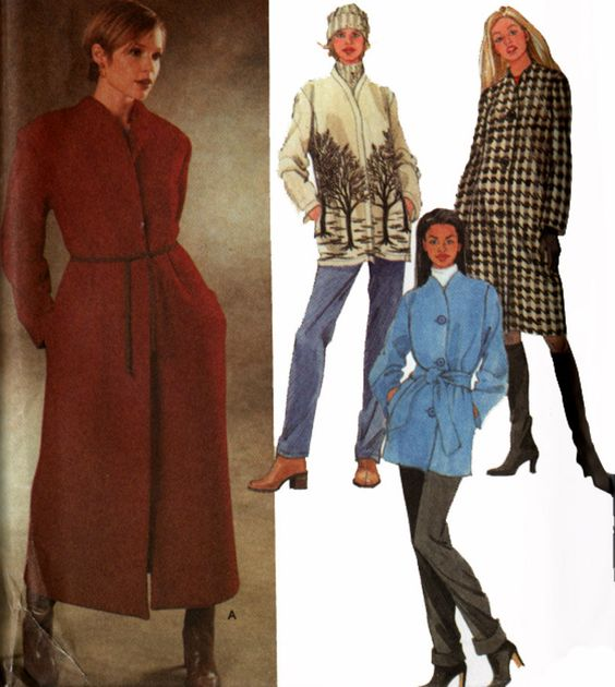 1990s Easy Lined or Unlined Coats Jackets Simplicity 9951 Vintage 90s Sewing Pattern Misses Plus Size 14-20 UNCUT by sandritocat on Etsy