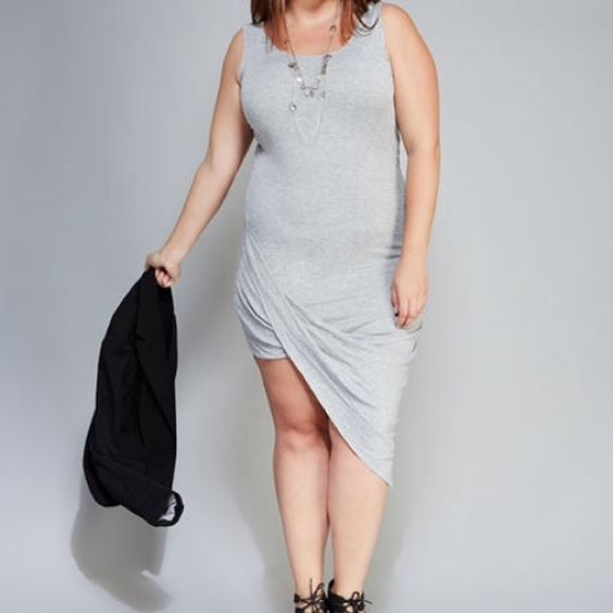 GREY Knit Asymmetrical Tank Dress *New listing.* ribbed tank dress in grey. Cute for summer in heels or sneakers. Worn once and in great condition. The hem needs to be ironed after every wear to restructure. No Paul, trades, or holds. Brand via wet seal. Wet Seal Dresses Asymmetrical