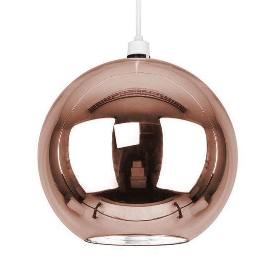 Mirror Modern Round Copper Glass Ball Ceiling Pendant Light Lamp Shade Light NEW in Home, Furniture & DIY, Lighting, Ceiling Lights & Chandeliers | eBay
