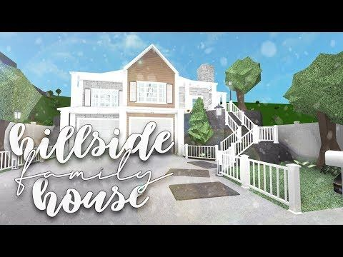 Roblox Bloxburg Family Hillside House Speedbuild Youtube