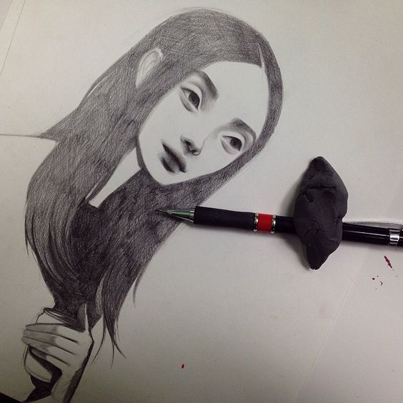 Doodle inspired by Ming Xi #mingxi #illustration #sketch #drawing #doodle #graphite #female #detroitart