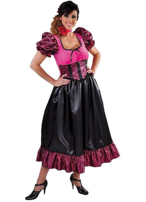 Cow Girl Kostüm Kleid Wilder Westen Saloon Saloonlady Lady Cowgirlkostüm Cowgirl