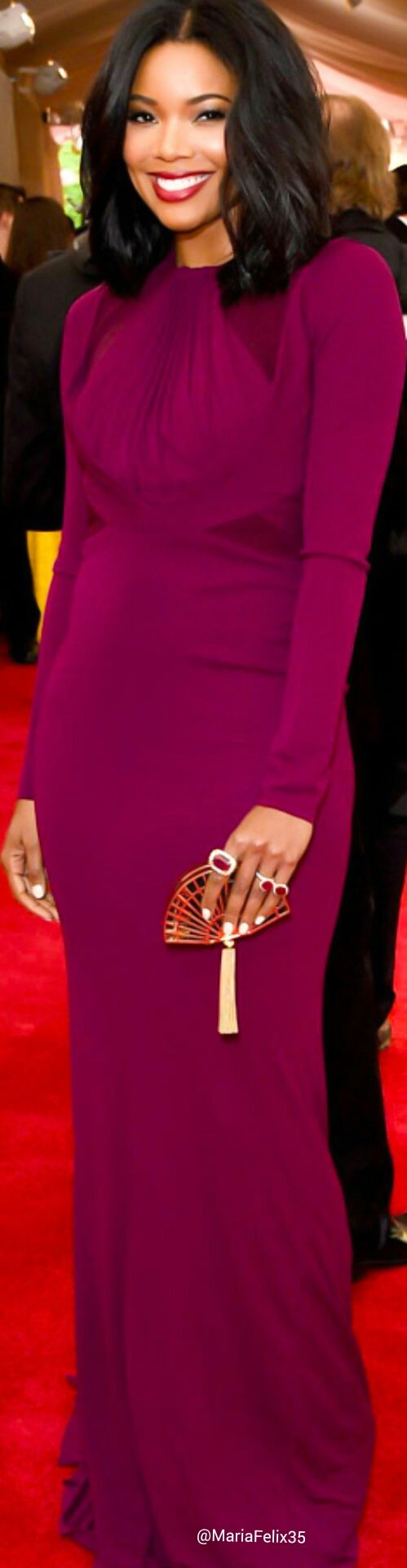 Gabrielle Union in Zac Posen at The Met Gala Red Carpet 2015