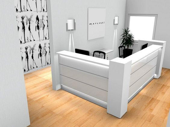 Valde Reception Desk P Con by Benjamin Hartley