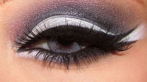 Love the fishtail eyeliner by itself! The rest of the shadow is a bit much, though...