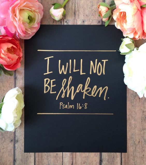 Psalm 16:8// Hand Lettered Bible Verse// by SaraVroomanDesigns