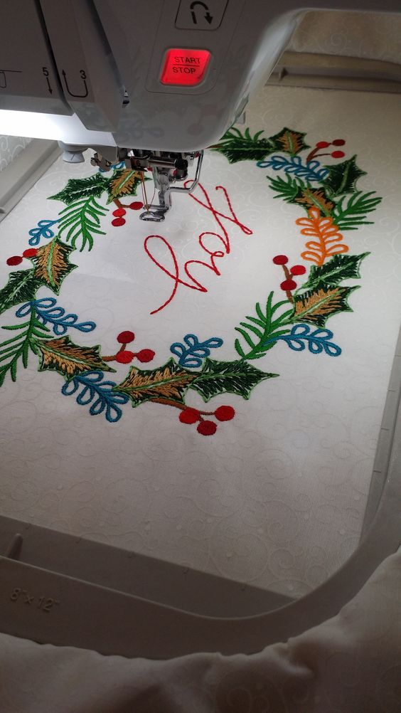 Have you seen what the Baby Lock Destiny can do yet? #embroidery #babylock #sewmeabernina #christmas #anitagoodesign
