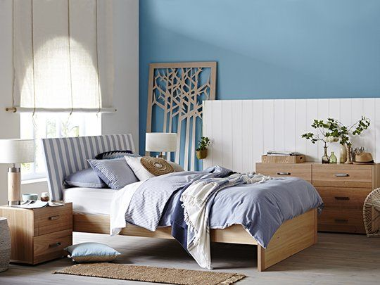 My Design Queen Bed Frame (inclined headboard & full panel base) main product image 4