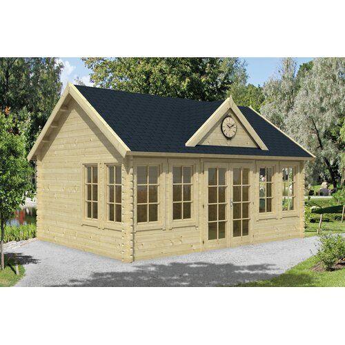 550 Cm X 400 Cm Gartenhaus Darrion Garten Living Fundament Ohne Fundament Boden Ohne Fussboden Dach Rechteckig Braun Gartenhaus Haus Gartengebaude