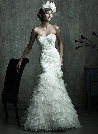 Mermaid wedding dresses mermaid wedding dresses wedding for Wedding dress with ostrich feathers