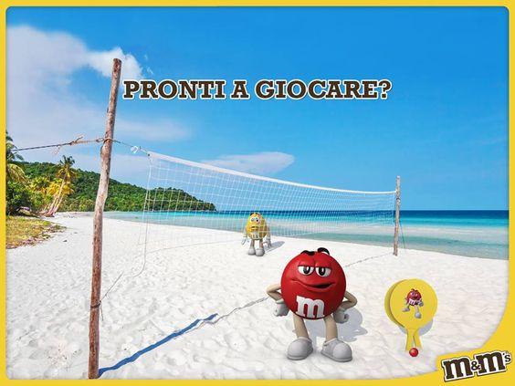 M&M's Italia - Gioco dell'estate - pensa ai tre gusti di M&M's, scegline due e vinci subito il tuo set di racchettoni da spiaggia
