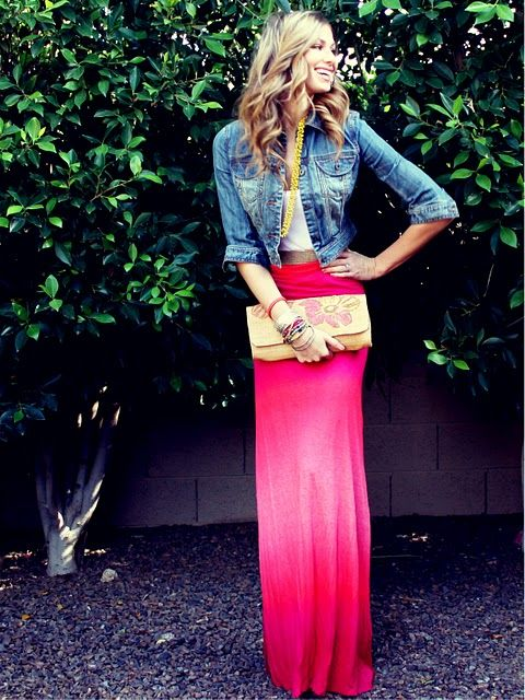 love the maxi with the jean jacket