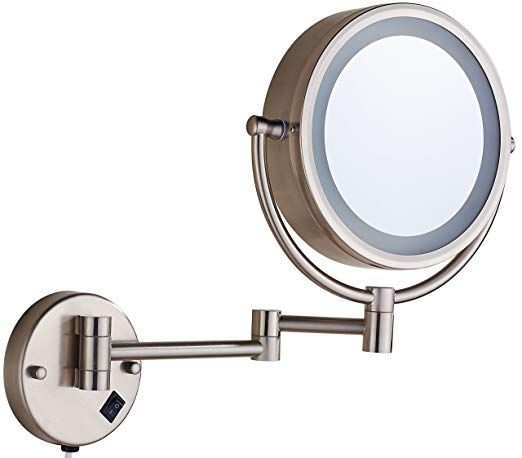Cavoli Makeup Mirror Wall Mounted With Led Lighted 7x Magnification Double Wall Mounted Makeup Mirror Wall Mounted Lighted Makeup Mirror Mirror With Led Lights