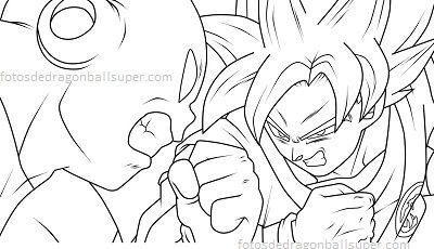 Resultado De Imagen Para Goku Vs Jiren Para Colorear Dibujos