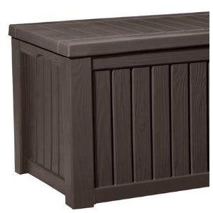 Garten 570 L  Keter Cabinet Mehrzweckschrank Aufbewahrungsschrank für den Garten, den Balkon oder die Terrasse  Durch Holzoptik passt diese Aufbewahrungsbox in jeden Garten und bietet viel Stauraum für Auflagen und Gartenzubehör. Der Inhalt ist dann vor Wind und Regen geschützt. Es können bequem zwei Personen auf dieser Box sitzen. Technische Daten Farbe: braun Abmessung außen (L/B/H): ca. 155 x 72,4 x 64,4 cm Abmessung innen (L/B/H): ca. 142,4 x 62,6 x 57,9 cm leichter Aufbau in wenigen…