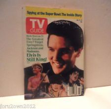 Elvis is Still King T.V. Guide January 21-27 1989 Springsteen Jackson Madonna