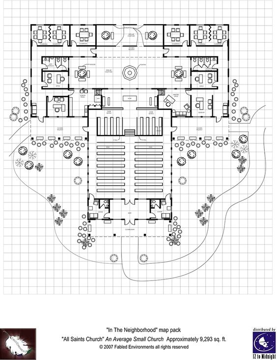 Modern Floorplans: Neighborhood Church - Fabled Environments