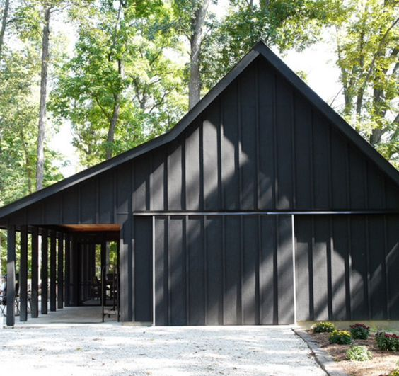 Black Barn With Black Trim Black Barns Other Sexy