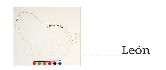 Kit de pintar León del León de Cloe. El regalo perfecto para cualquier niño. #elLeonDeCloe #kitDePintar #Animals #ninos #caballete #lienzo #juguete #leon #lion