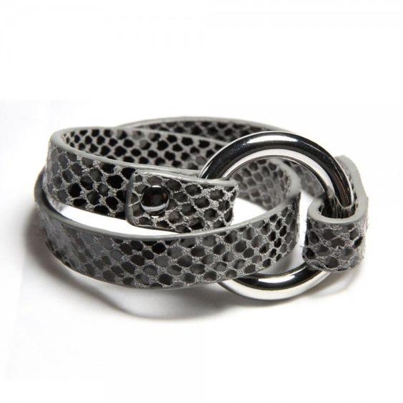 Leather bracelet in croco look - 32,95 €
