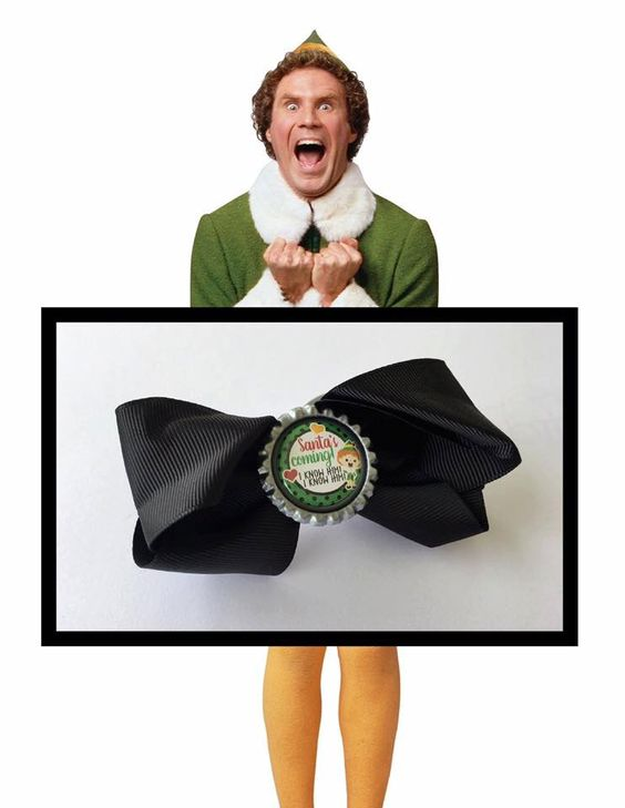 Elf Bow - Santa's coming I know him I know him by binspiredbylife on Etsy