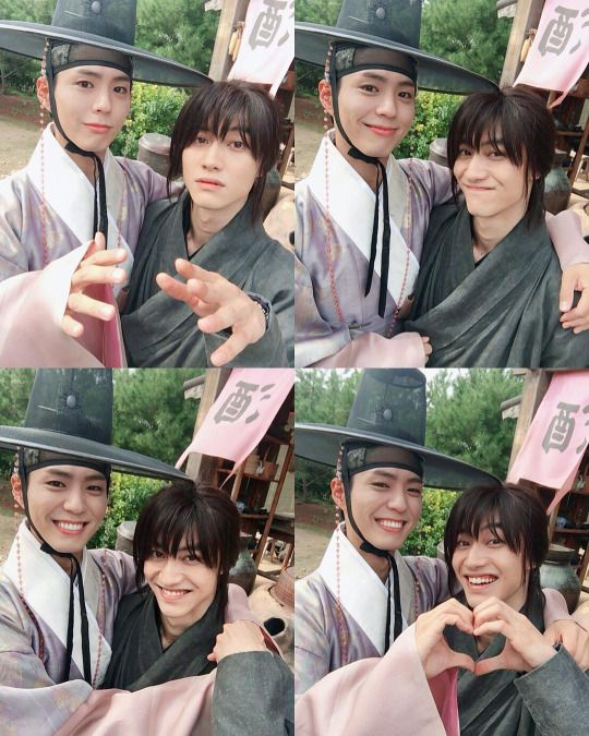 Park Bo Gum and Kwak Dong Yeon, Moonlight Drawn By Clouds bts: