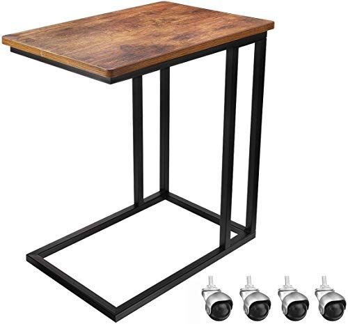 Amazing Offer On Kingso Side Table Sofa Table Mobile Snake Table Coffee Laptop Tablet Rolling Side Table Wheels Slide Under Couch Table End C Tables Living Room In 2020 Living Room