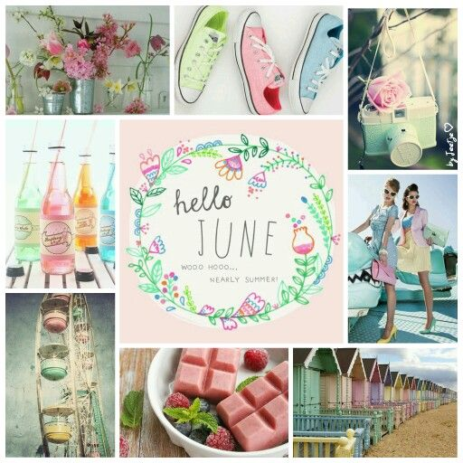 Nearly summer, Hello June! #moodboard #mosaic #collage #inspirationboard #byJeetje♡: