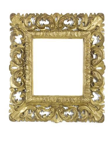 A Florentine 18th Century carved and gilded frame   Rokoko ...