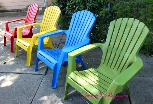 paint your plastic chairs outdoor furniture outdoor living painted