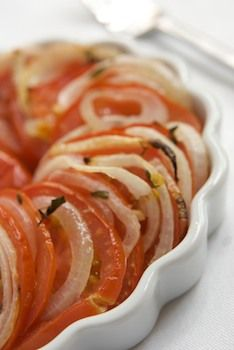 Roasted Tomatoes with onions