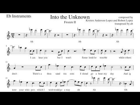 Into The Unknown Frozen Ii Alto Sax Cover Sheet Music Pdf