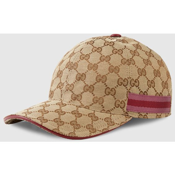 gucci original gg canvas baseball hat 325 cad liked on. Black Bedroom Furniture Sets. Home Design Ideas