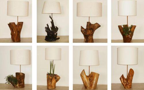 Lamparas con troncos de arbol buscar con google para armar pinterest - Tronco madera decoracion ...