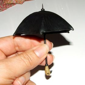 AligraDolls Tutoriales: El paraguas de Mary Poppins / O guardachuvas da Mary Poppins