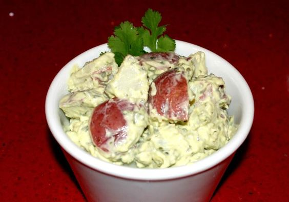 Chimichurri sauce turns ordinary potato salad into the perfect side dish for grilled foods.