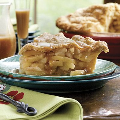 Double Apple Pie with Cornmeal Crust - This pie is packed with apple flavor! Apple jelly adds richness to the filling, and apple cider packs even more flavor in the flaky cornmeal crust.