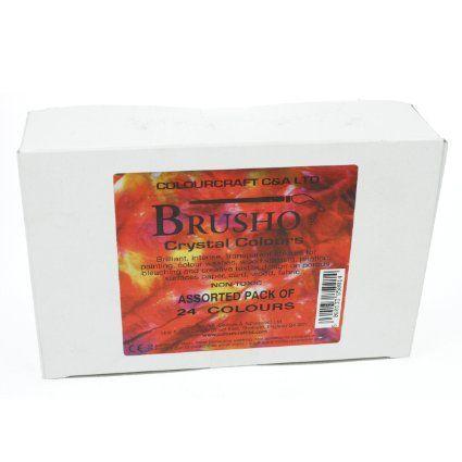 Brusho Crystal Colours Set Of 24