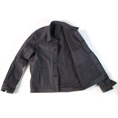 Black Denim Jacket 14oz – Traveller Denim