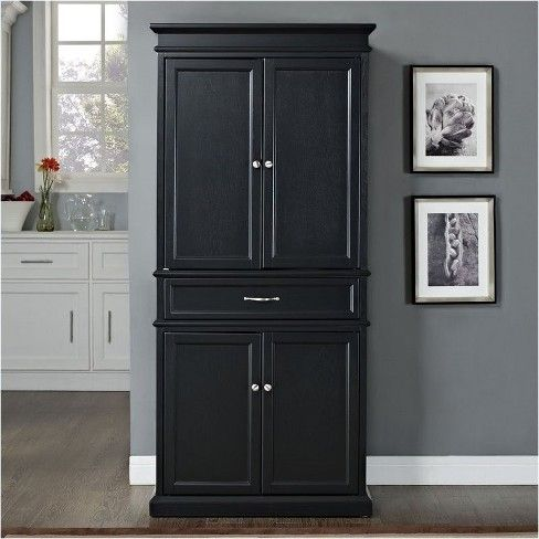Wood Pantry In Black Pemberly Row Target Kitchen Cabinet Storage Kitchen Cabinets Makeover Kitchen Pantry Cabinets
