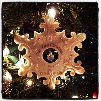 """""""Our First Christmas"""" Ornament"""