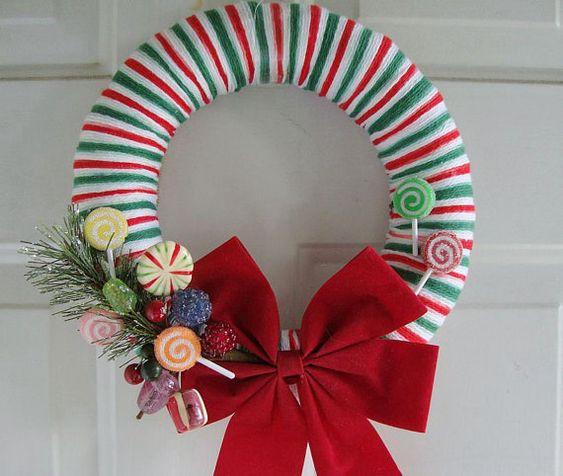 Christmas Wreath Wrap Ribbon Around A Foam Wreath Hot