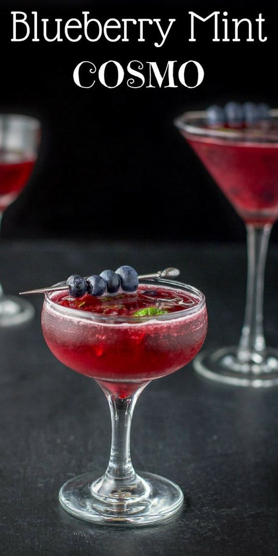 Blueberry Mint Cosmo Cocktail Resep Koktail Resep Makanan Koktail