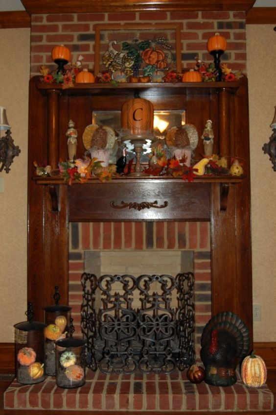 Thanksgiving Fireplace Decorating Ideas List 17 Ideas In