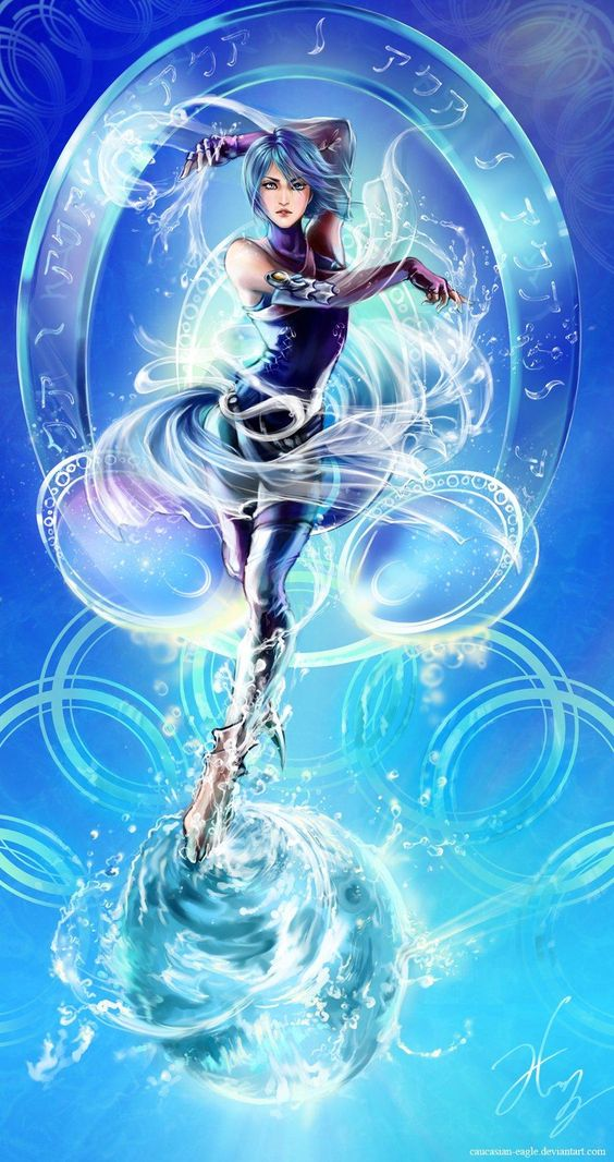 Aqua dancing with the water