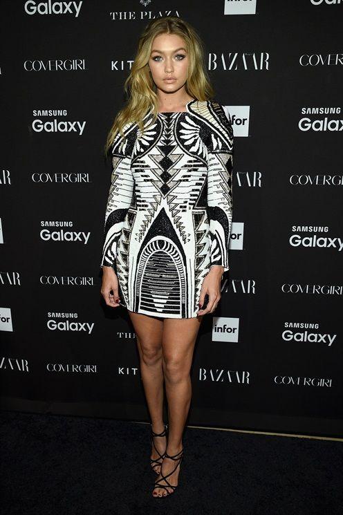 Gigi Hadid in Balmain X H&M